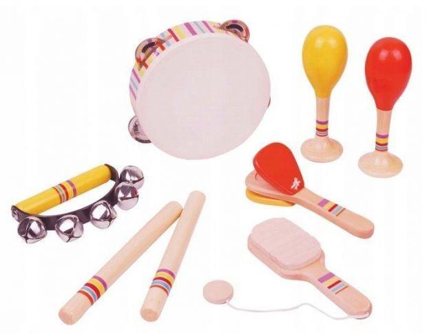 zabawki dla dzieci z autyzmem instrumenty muzyczne drewniane