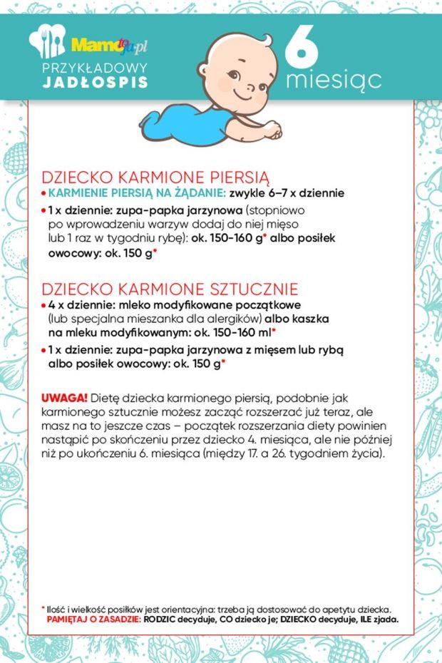 jadłospis dla 6-miesięcznego dziecka