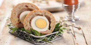 Jajka w cieście drożdżowym - przepis