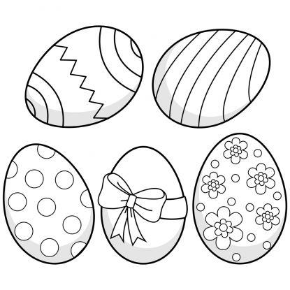 jajka wielkanocne kolorowanki do wydruku