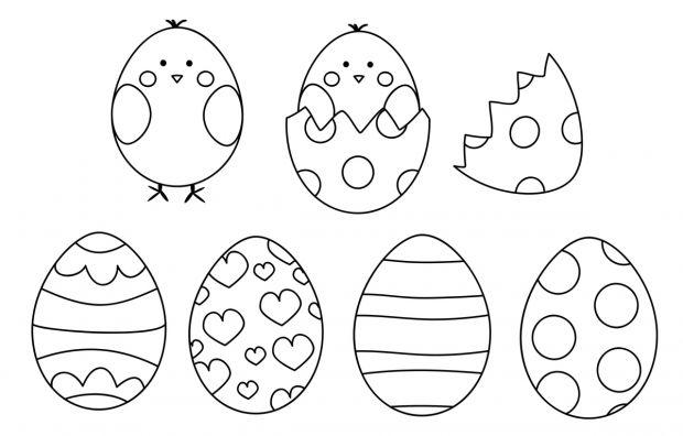 malowanki jajka wielkanocne