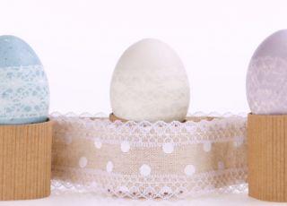 jajka wielkanocne z koronki