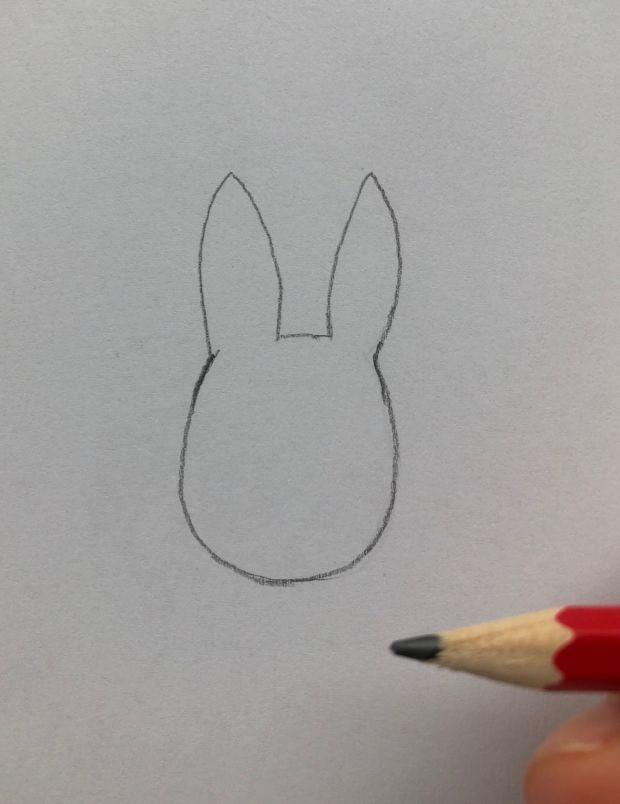 jak narysować królika - krok 1