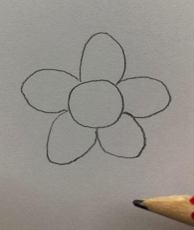 jak narysować kwiatka