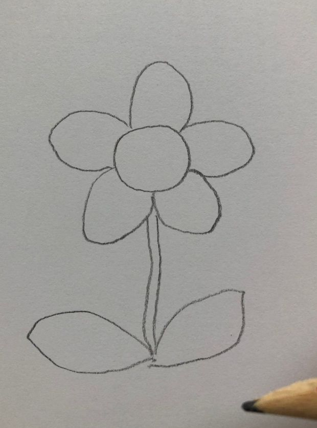 jak narysować kwiatka krok po kroku
