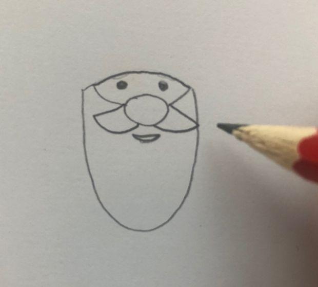 jak narysować świętego Mikołaja krok po kroku