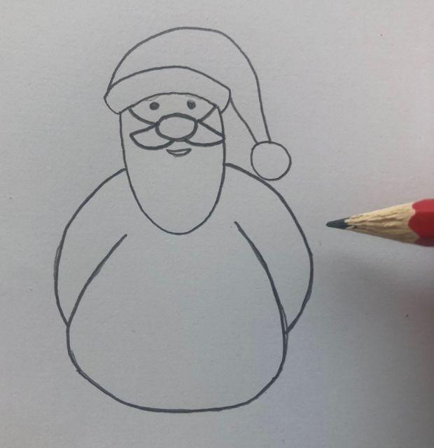 jak narysować świętego Mikołaja