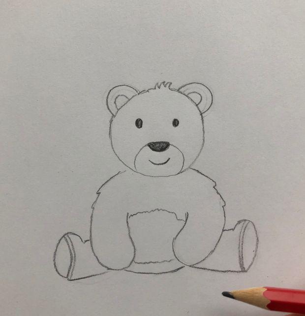 jak narysować słodkiego misia