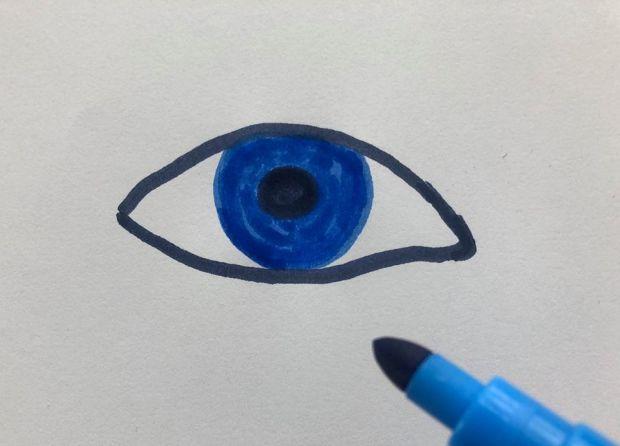 jak narysować oko krok po kroku