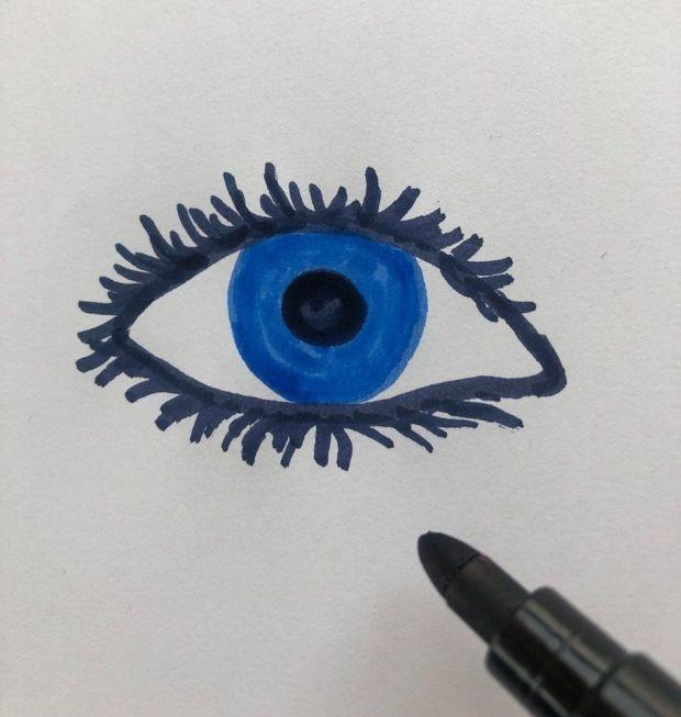jak sie rysuje oko