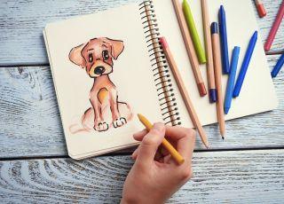 jak narysować psa