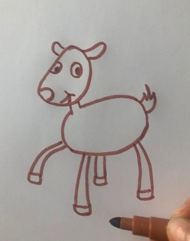 jak narysować renifera