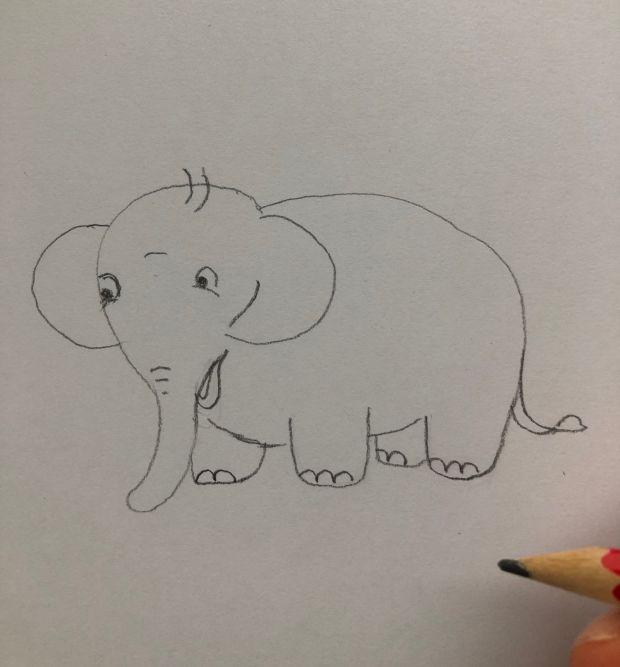 jak narysować słonia