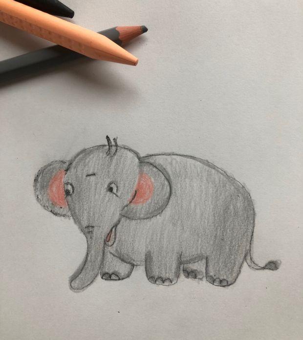 jak narysować słonia krok po kroku