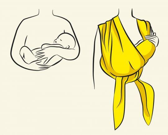 jak nosić noworodka w chuście