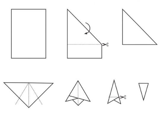 wzór wycinania śnieżynki z papieru