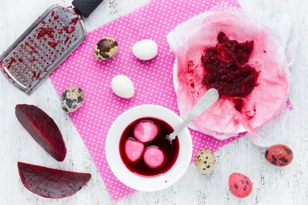 naturalny różowy barwnik do jajek - buraki