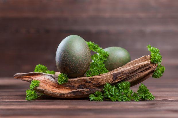 zielony naturalny barwnik do jajek na Wielkanoc