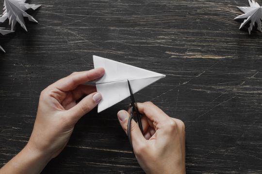 jak zrobić choinkę z papieru - krok 8