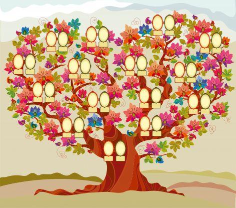 drzewo genealogiczne wzór do wypełnienia