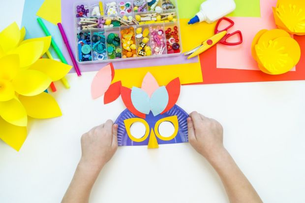 maska karnawałowa dla dziecka z papieru