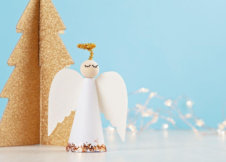 jak zrobić stojącego anioła z papieru