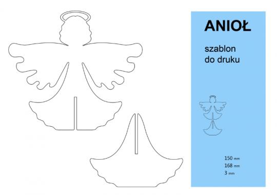 jak zrobić stojącego anioła z papieru szablon do druku 1