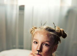 jelonek bambi makijaż na halloween dla dziecka