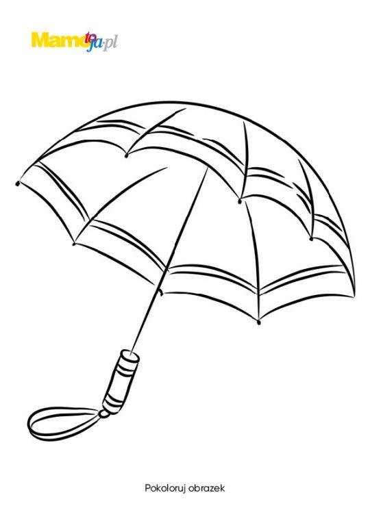 jesień kolorowanki parasol