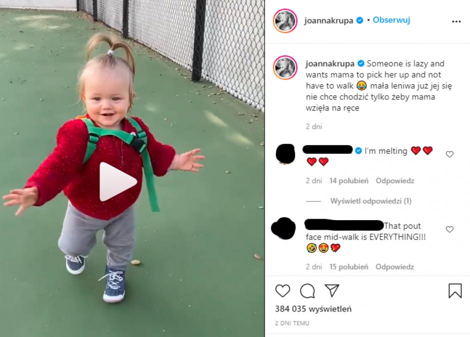 Joanna Krupa pokazała filmik z córeczką