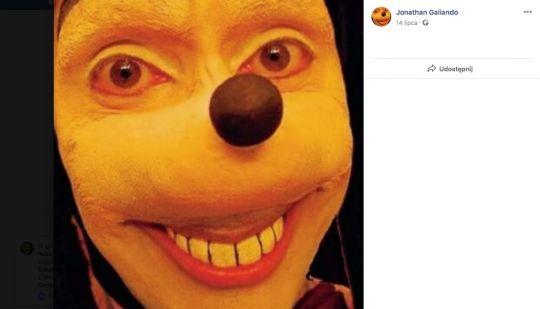 Straszny Goofy Jonathan Galindo
