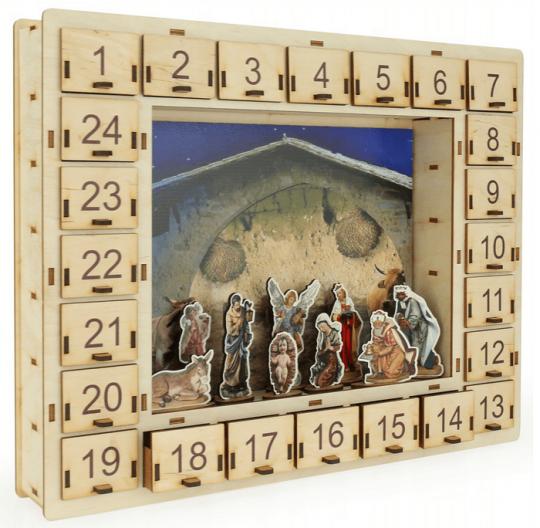Kalendarz adwentowy szopka