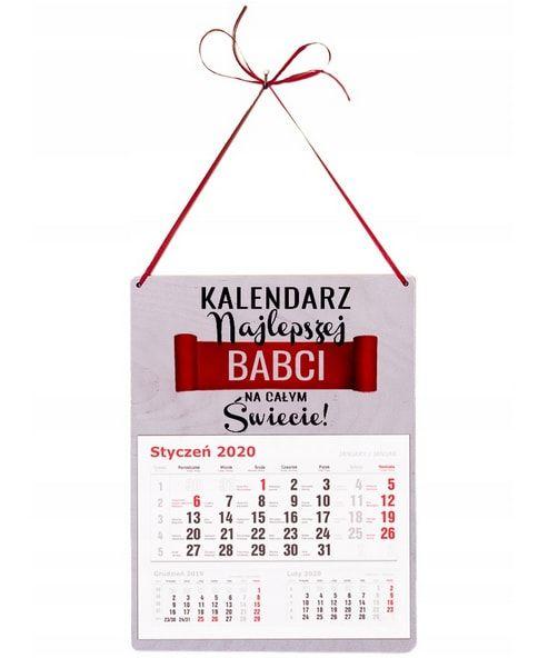 kalendarz na dzień babci i dziadka wiszący duży
