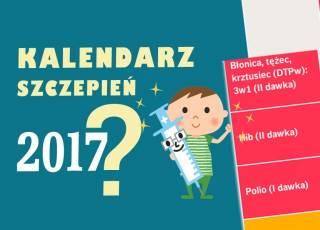 Kalendarz szczepień 2017