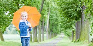 kalosze, deszcz, zabawa, dziecko