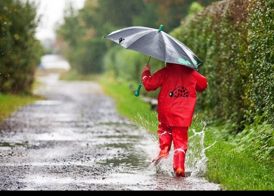 kalosze, parasol, deszcz