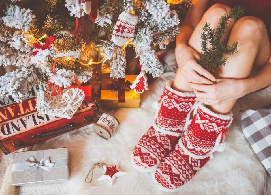 kapcie świąteczne
