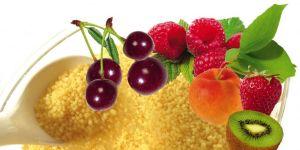 kasza, owoce