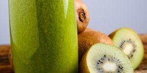 kiwi, owoce, koktajl, sok, warzywa