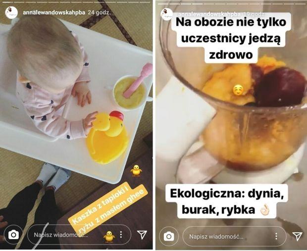 Klara Lewandowska zdrowe menu co je córeczka Lewandowskich