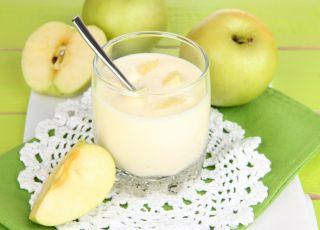 kleik ryżowy, jabłko, jogurt, danie, deser
