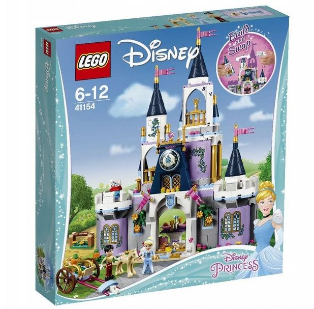 klocki lego dla dziewczynek zamek kopciuszka