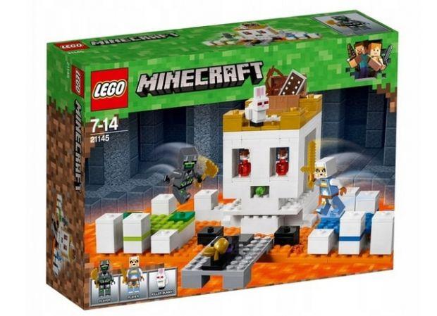 klocki lego minecraft czaszkowa arena