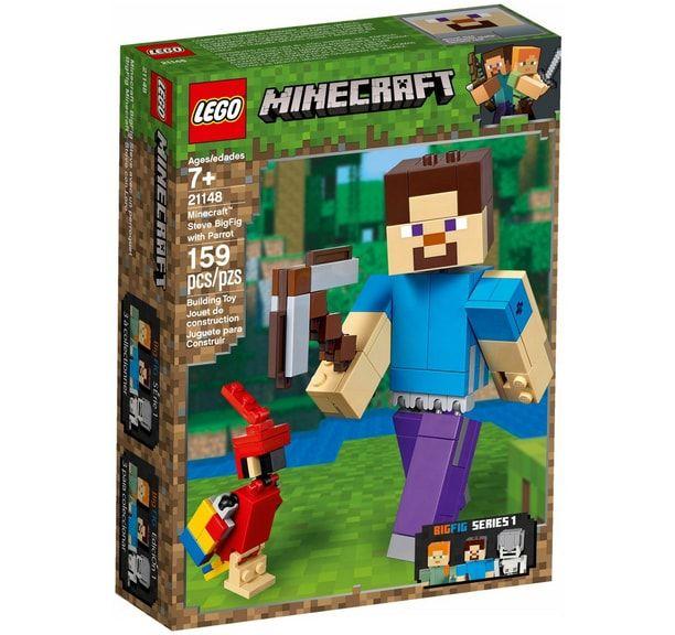 klocki lego minecraft figurka steve'a