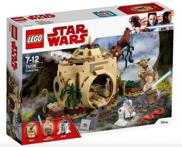 klocki lego star wars chatka yody