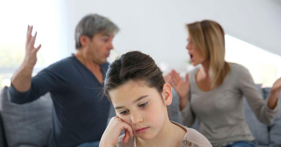 kłótnia przy dziecku