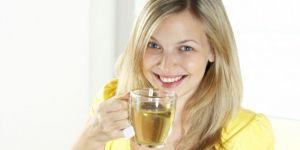 kobieta, ciąża, brzuszek, kubek, herbata
