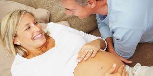 kobieta, ciąża, brzuszek, mężczyzna