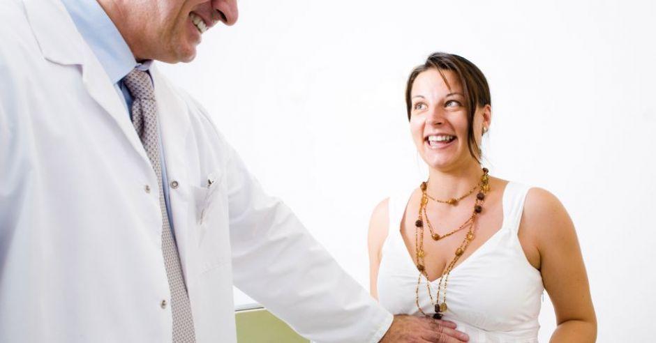 kobieta, ciąża, lekarz, szpital, badanie
