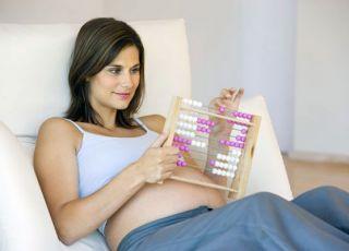 kobieta, ciąża, liczydła, mama, brzuszek